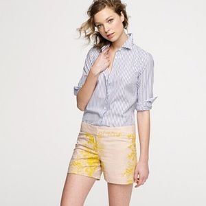 J. Crew Embroidered Cotton Shorts